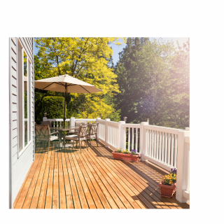 Another beautiful deck by Bainbridge Custom Decks