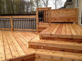 Beautiful Deck by Bainbridge Custom Decks