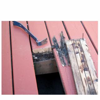 Deck repair by Bainbridge Custom Decks